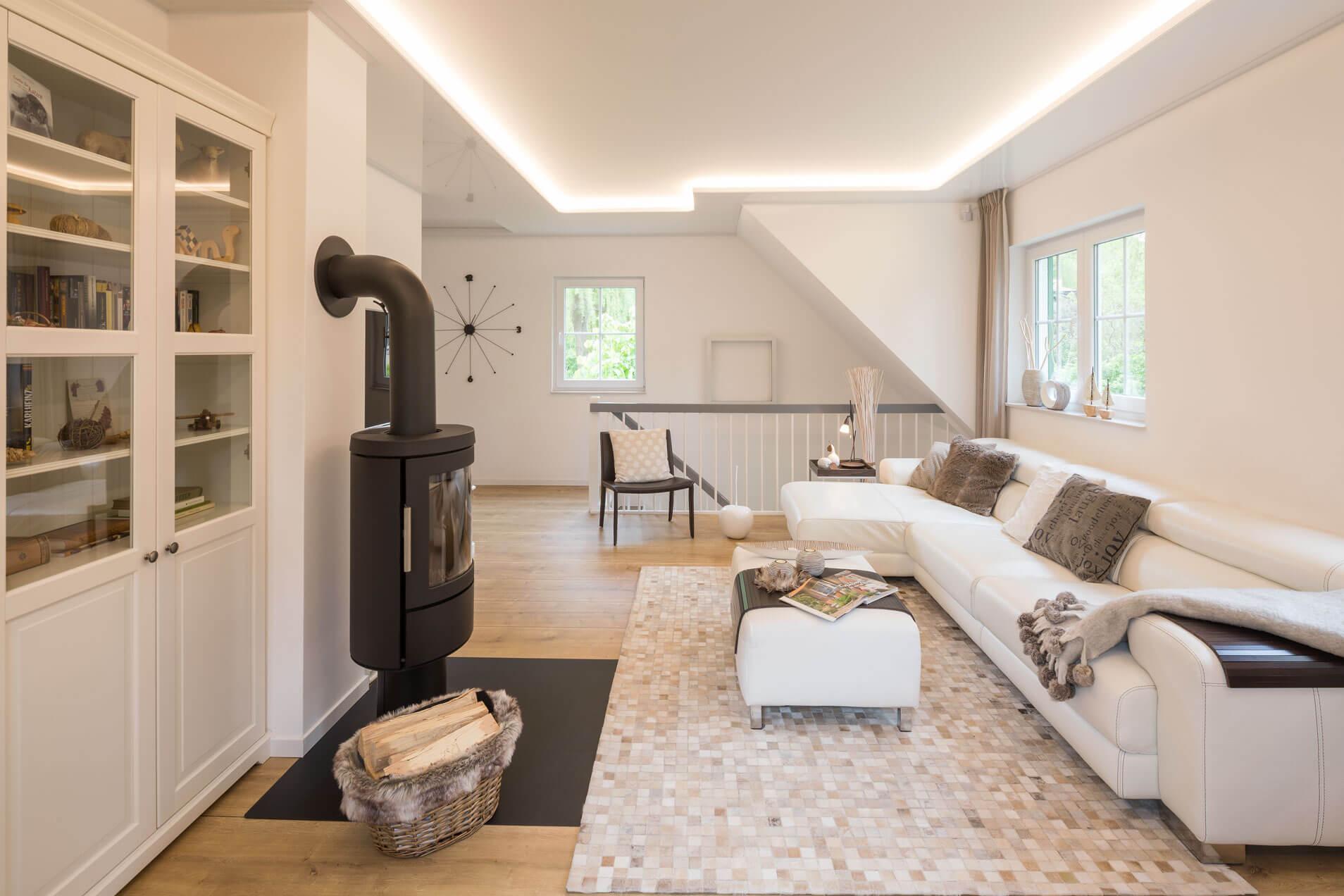 Wohnzimmer Spanndecke Tunable White