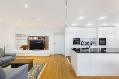 Wohnzimmer Spanndecke
